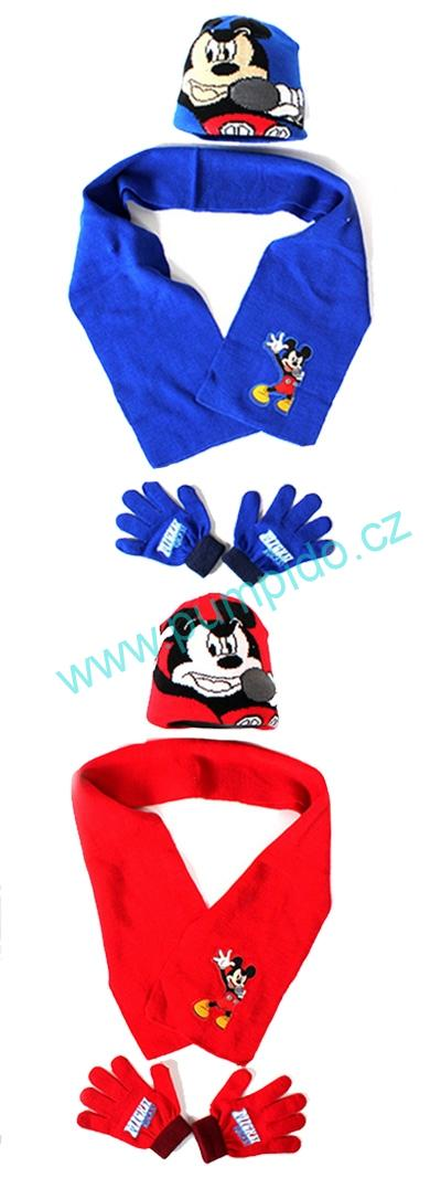 Set čepice, šála, rukavice Mickey
